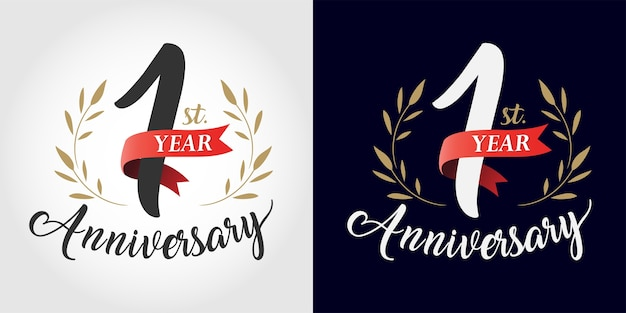 Anniversary number hand lettering. vintage style