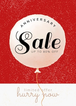Anniversary sale template for social media post