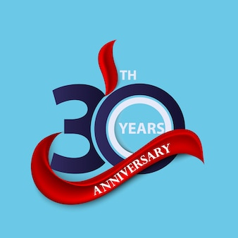 Anniversary sign and logo celebration symbol