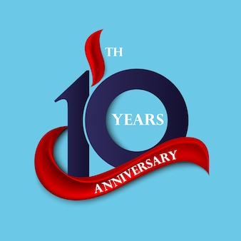 Anniversary sign and logo