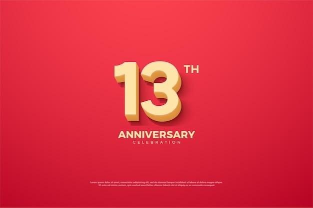 애니메이션 번호가있는 기념일