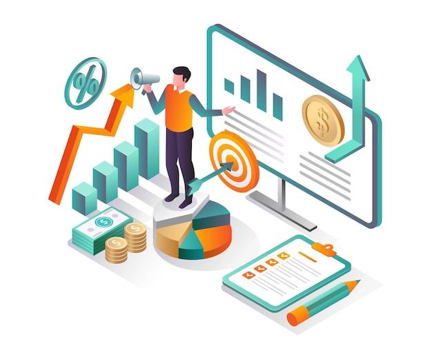 Объявите о будущих доходах и целях бизнеса