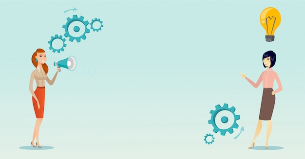 Announcement for business idea vector illustration