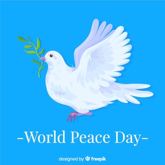 The announcing dove on international peace day