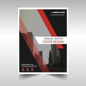 Rosso modello nero annuale copertina progettazione dei report