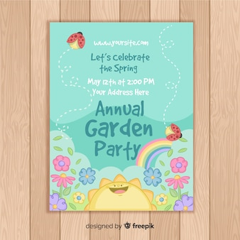 Annual garden party flyer