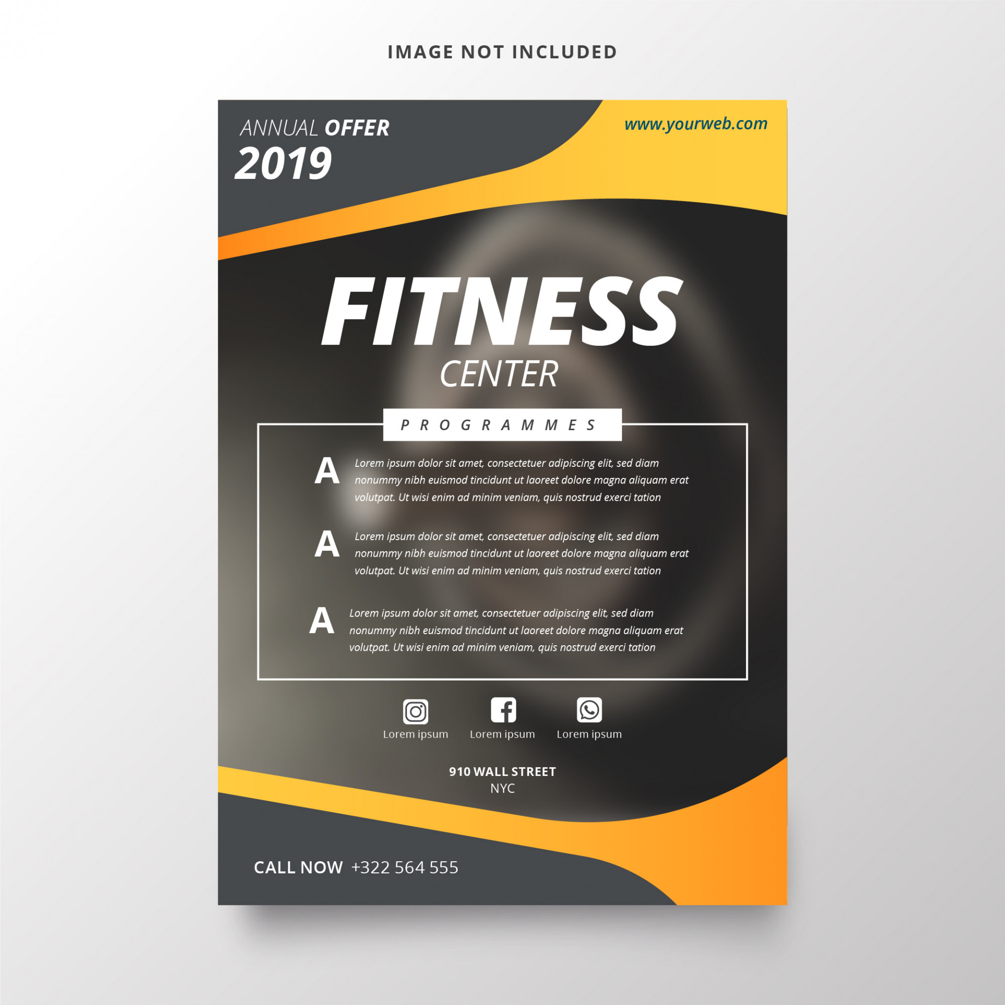 Annual plan for fitness center template