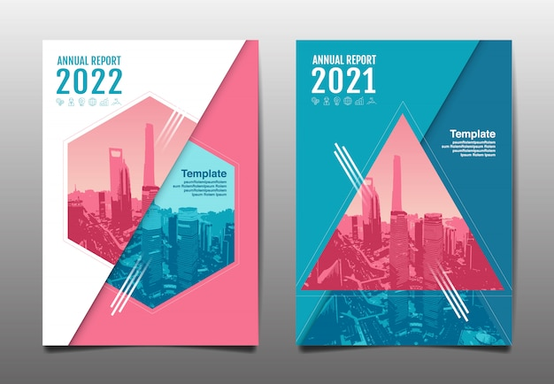 Annual report 2020,2021,2022 future, business, template layout design, cover book. illustration.
