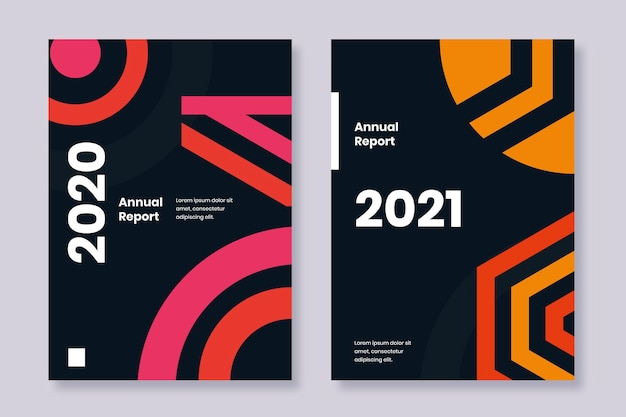 Annual report 2020 and 2021 templates