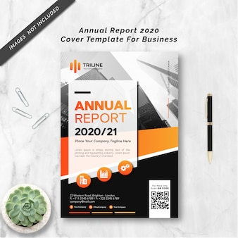 Annual report 2020 cover template for business