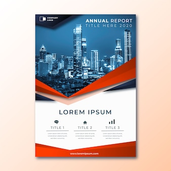 Annual report abstract template with image
