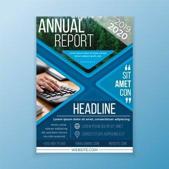 Estratto del rapporto annuale con il modello della foto