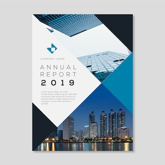 Annual report abstract with picture template