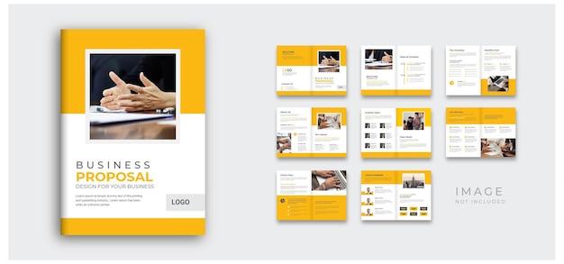 연례 보고서 및 회사 프로필 최소한의 브로셔 디자인