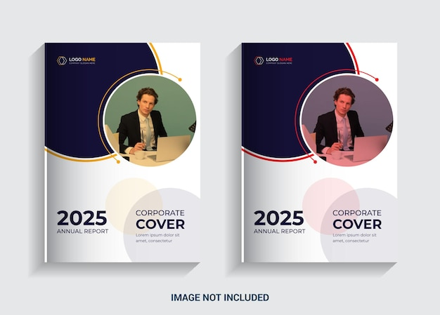 상업 비즈니스를 위한 연례 보고서 책 표지 디자인