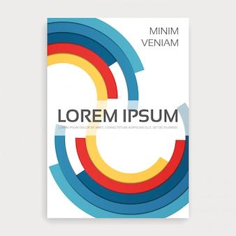 여러 가지 빛깔의 semirings와 연례 보고서 책자 표지.