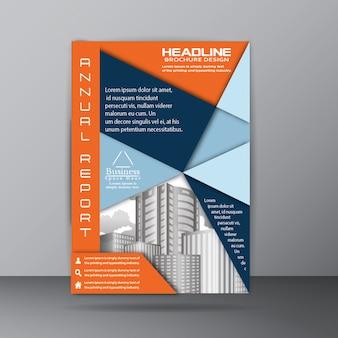 Annual report brochure template for corporate company purpose