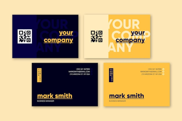 Annual report business card