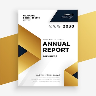 Annual report business company brochure design template