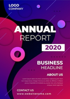 Annual report business template