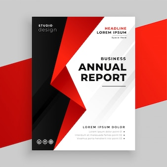 Annual report company business brochure template design