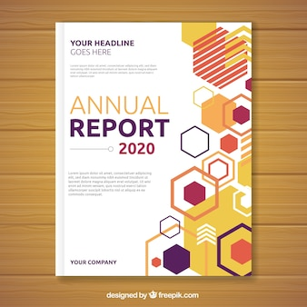 기하학적 형태의 연간 보고서 표지