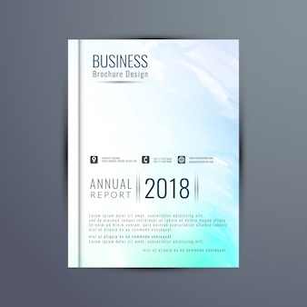 Annual report cover with watercolors