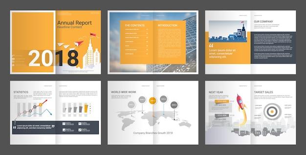 Annual report design template set