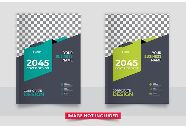 Annual report flyer business brochure cover cover design template layout in a4 size