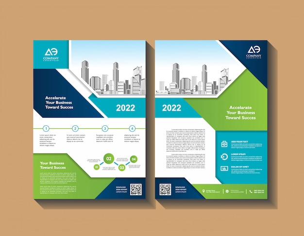 Annual report flyer corporate presentation