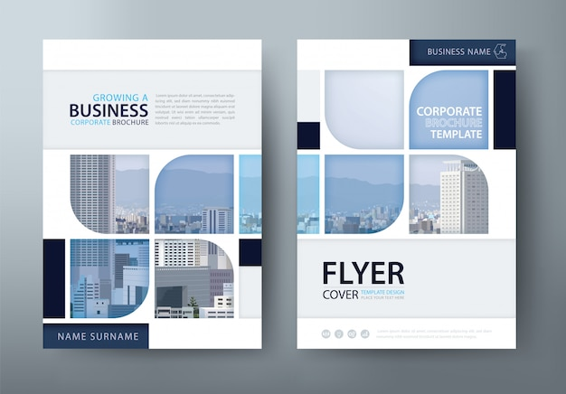 Annual report, flyer template.
