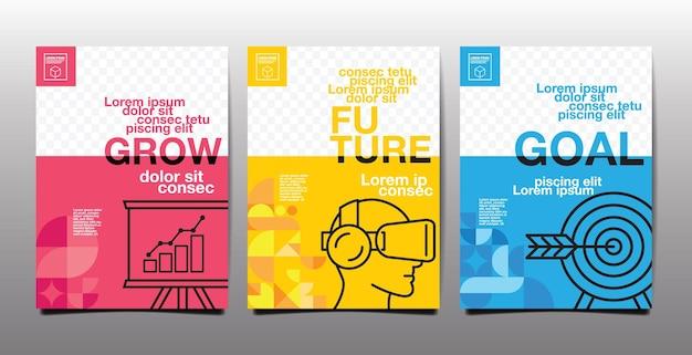 연례 보고서, 미래, 비즈니스, 템플릿 레이아웃 디자인, 표지 책. 벡터 일러스트 레이 션, 프레 젠 테이 션 추상 평면 배경