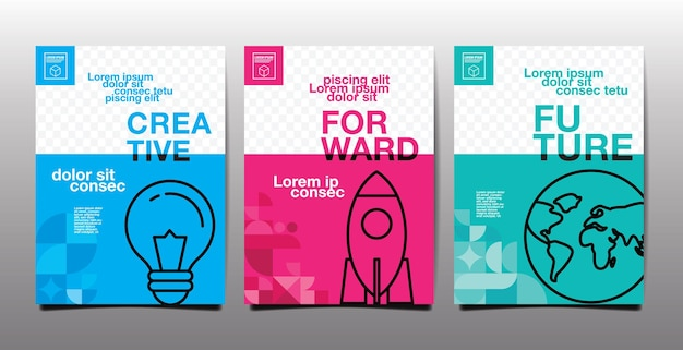 연례 보고서, 미래, 비즈니스, 템플릿 레이아웃 디자인, 표지 책. 벡터 일러스트 레이 션