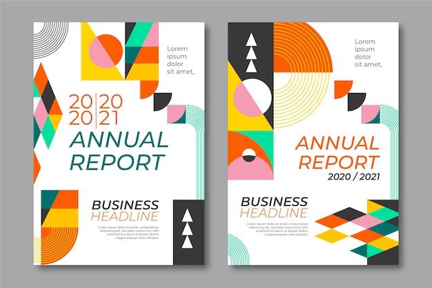Modelli di forme geometriche di relazione annuale