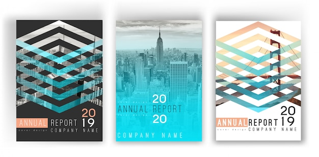 Annual report gradient cover template