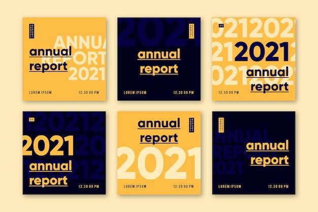 Rapporto annuale instagram post