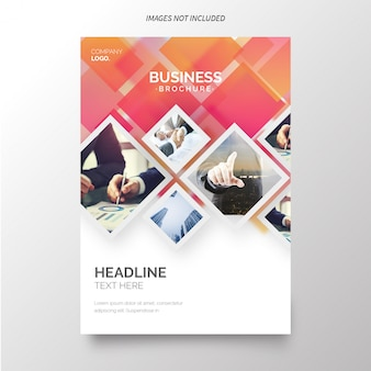 Annual report template for business Free Vector