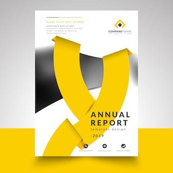 Annual report template, creative annual report design