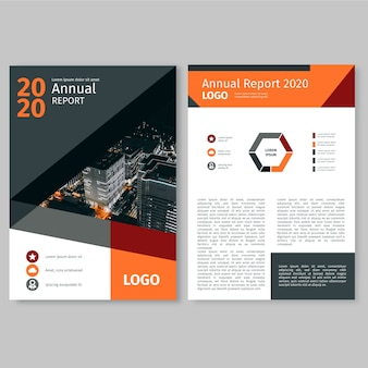Annual report template with photo