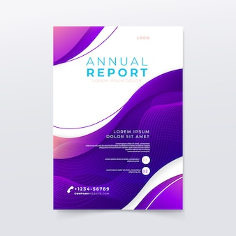 Annual report template with waves
