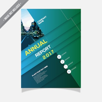 Annual report with geometrical design