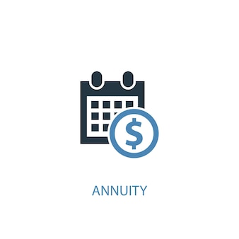 Annuity concept 2 colored icon. simple blue element illustration. annuity concept symbol design. can be used for web and mobile ui/ux