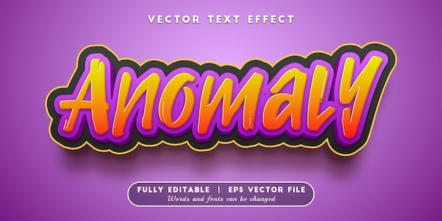 Anomaly text effect with editable text style