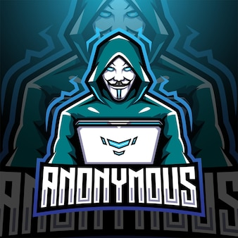 Anonymous esport mascot logo design