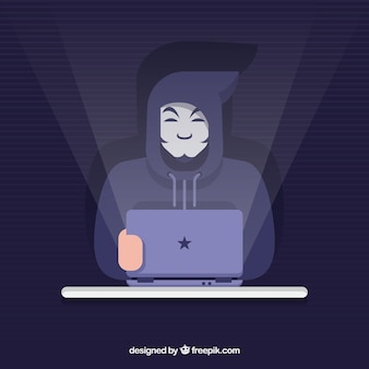 평면 디자인의 익명 해커