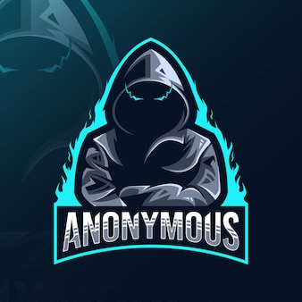 Anonymous mascot logo esport design