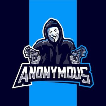 Anonymous mascot logo esport design