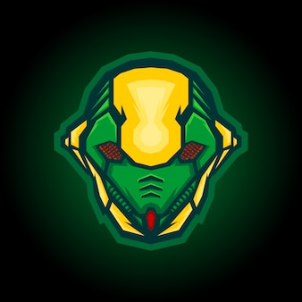 Роботизированный дизайн логотипа ant e sport