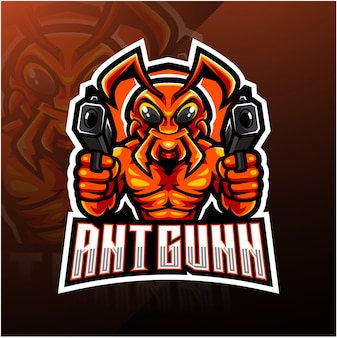 Ant gunner esport mascot logo