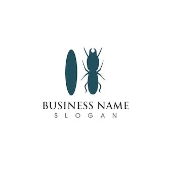 Муравей логотип и символ векторное изображение
